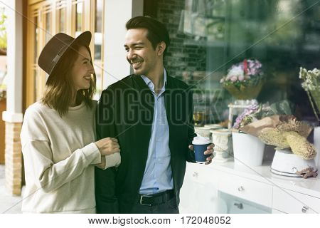 Couple Dating Happiness Enjoyment Holiday