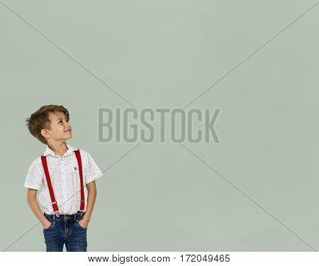 Adorable Schoolboy Portrait Studio Shoot