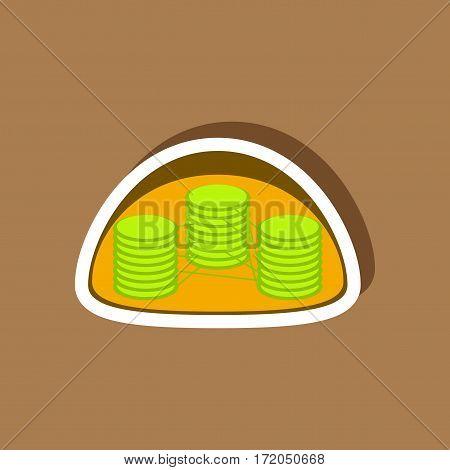 paper sticker on stylish background isolated chloroplast