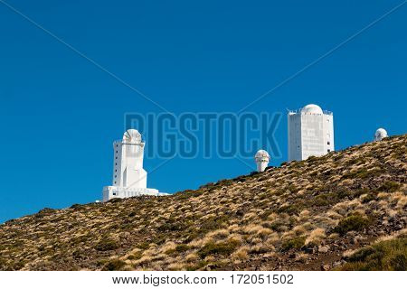 Teide Observatory in Teide National Park in Tenerife Canary Islands Spain