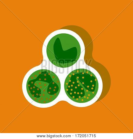 paper sticker on stylish background isolated leukocyte