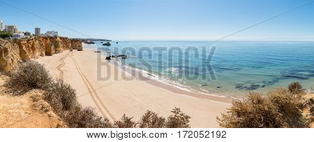 A view of a Praia da Rocha in Portimao Algarve region Portugal