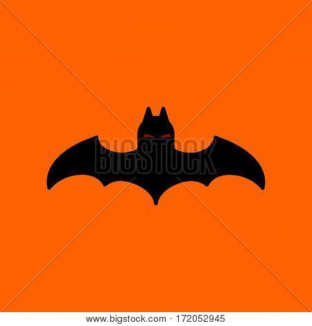 flat icon on stylish background halloween bat