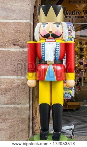 Nuremberg, Germany - Jan 6, 2017: Christmas Nut Cracker Soldier Germany
