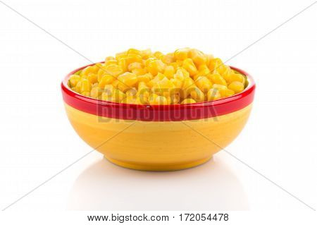 Sweet Canned Corn In Bowl