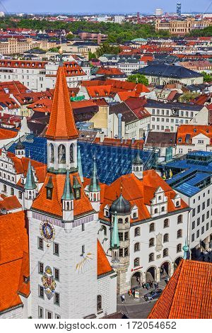 Munich, Bavaria, Germany. Old Town architecture view