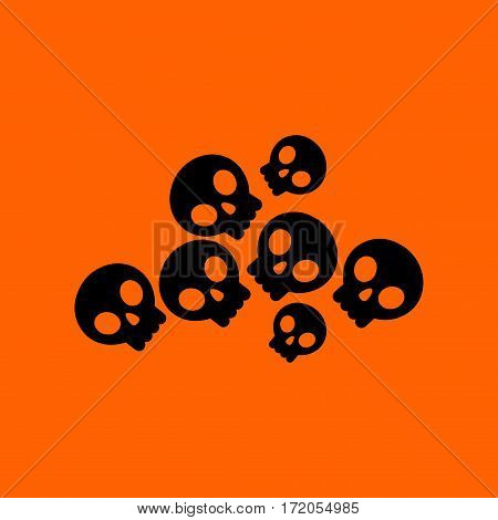 flat icon on stylish background halloween skulls