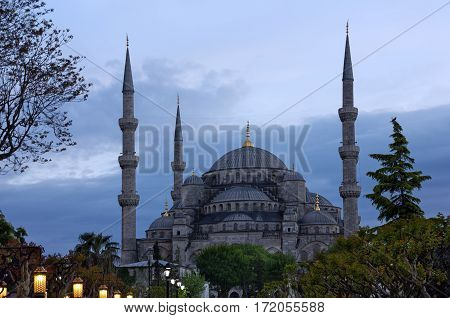 Sultanahmet - Blue mosque architecture, Istanbul, Turkey