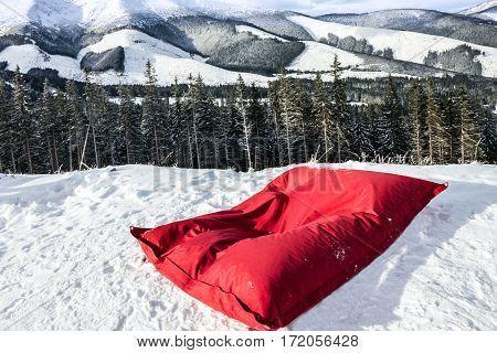 Mountain scenery winter, Tatry landscape forest, Slovakia