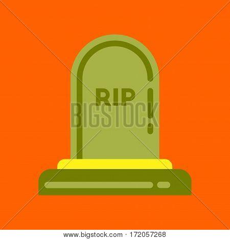 flat icon on stylish background halloween grave