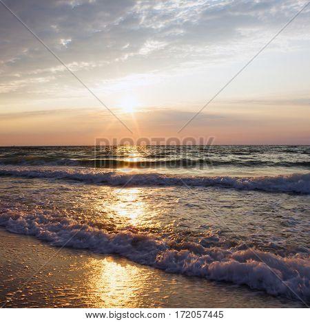 daybreak over sea. Natural landscape. Black sea