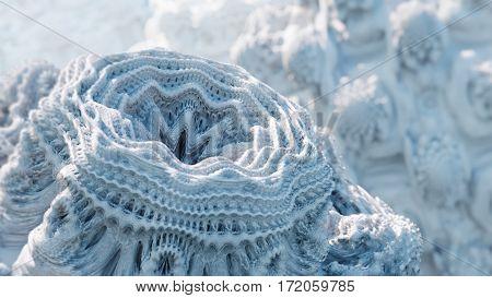 Danger virus bacteria. 3D generated macro image.