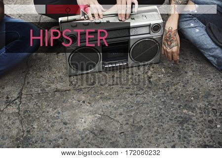 Inspire Activities Hipster Style Word