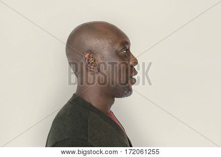 African Descent Man Side Shot Concept