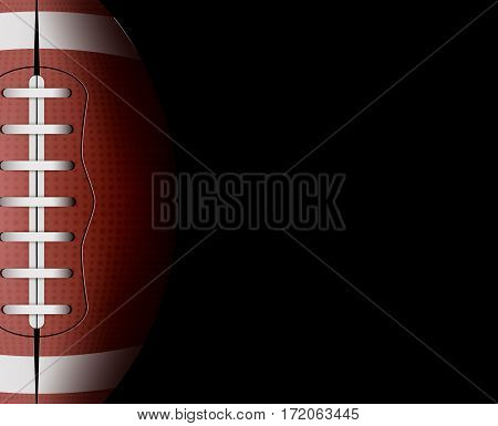 Vector rugby ball background. Football sport game competition. Leather ball equipment illustration. Rugby team players list.
