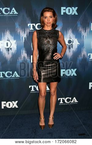 LOS ANGELES - JAN 11:  Audrey Plaza at the FOXTV TCA Winter 2017 All-Star Party at Langham Hotel on January 11, 2017 in Pasadena, CA