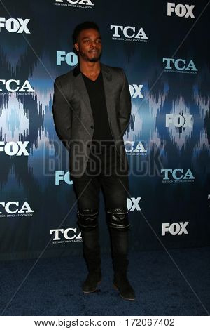 LOS ANGELES - JAN 11:  Stephan James at the FOXTV TCA Winter 2017 All-Star Party at Langham Hotel on January 11, 2017 in Pasadena, CA