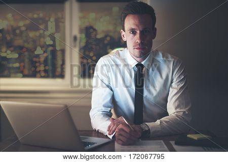 Serious Businessman At Office