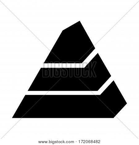 pyramid emblem infographic icon vector illustration design