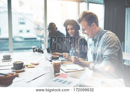 Diverse Young Business Team In A High Key Office