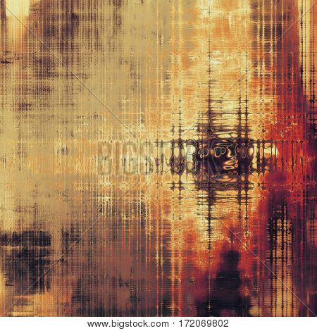 Old style design, textured grunge background with different color patterns: yellow (beige); brown; gray; red (orange); purple (violet); black