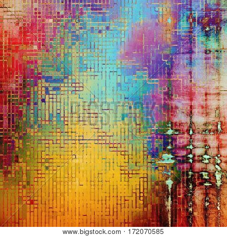 Grunge background or vintage texture in traditional retro style. With different color patterns: yellow (beige); red (orange); purple (violet); pink; green; blue