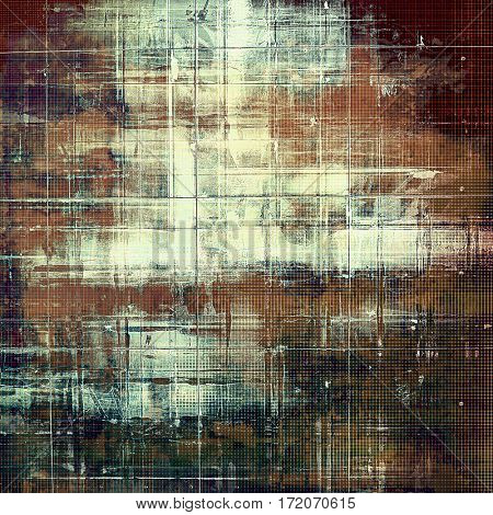 Shabby texture or background with classy vintage elements. Grunge backdrop with different color patterns: yellow (beige); brown; gray; green; cyan; white