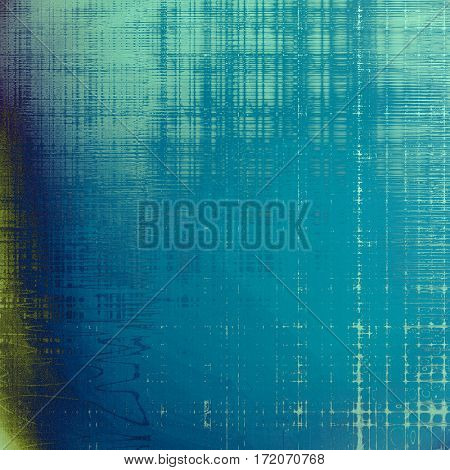 Grunge design composition over ancient vintage texture. Creative background with different color patterns: green; blue; cyan