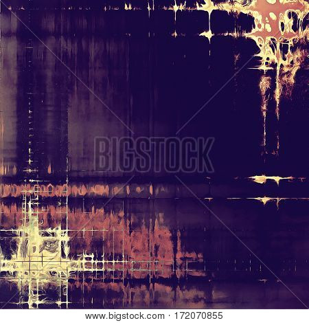 Elegant vintage background, grunge design template. Ancient texture with different color patterns: yellow (beige); brown; blue; purple (violet); pink