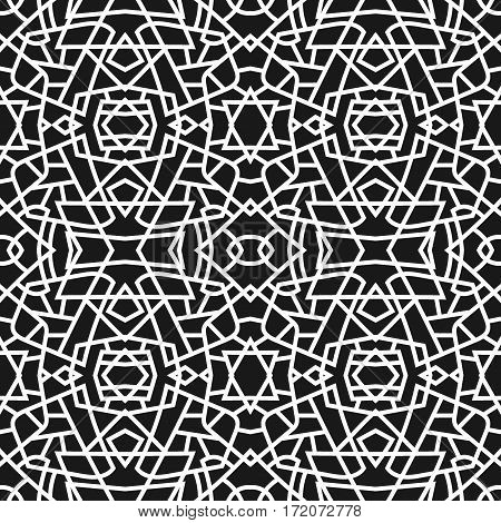 Vector illustration. Seamless geometric pattern. The pattern for wallpaper, wrapping paper, textile, fabric, and design projects.