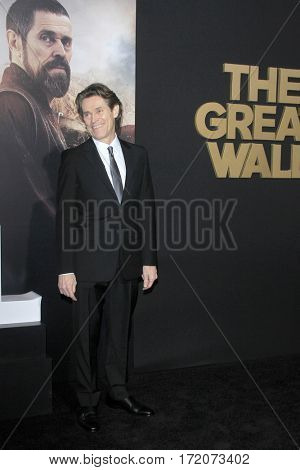 LOS ANGELES - FEB 15:  Willem Dafoe at