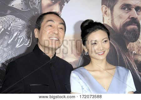 LOS ANGELES - FEB 15:  Zhang Yimou, Chen Ting at