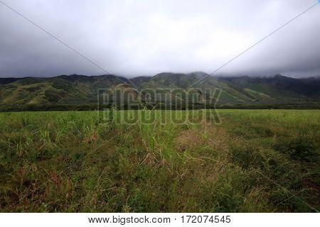 Maui Hawaii. Maui Mountains facing west from Kahalui