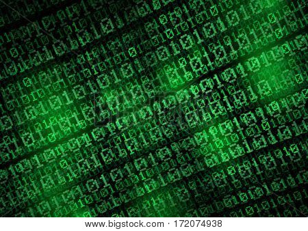 binary code - green digital screen - computer code