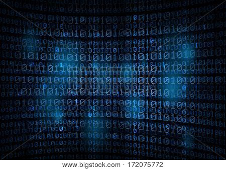 binary code background - data concept -