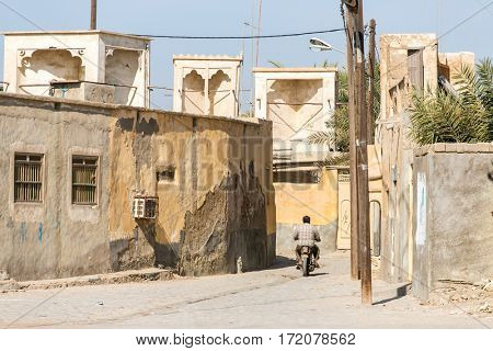 Varzaneh, Iran - December 17, 2015: Street scene in iranian city Varzaneh in  Isfahan Province, Iran.