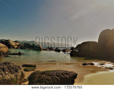 South Africa, Beach, Ocean, Simons Bay, Peaceful