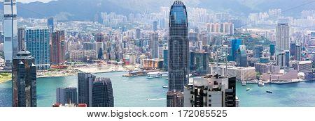 Hong Kong Panorama, looking from Victoria Peak
