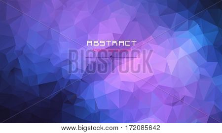 Abstract Multicolored Polygon, Low Polygon Background. Transfusion Of Color. Blue, Violet Color. Wat