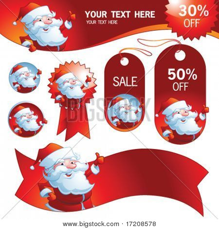 Vector seasonal design elements for advertising. More variants in portfolio