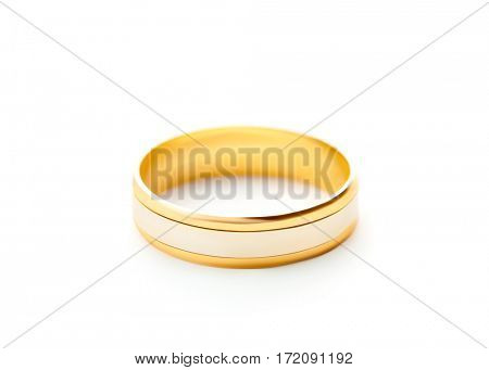 Wedding ring isolated on white background