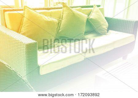 living room with gray sofa and modern decor.