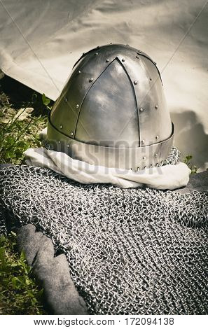 Photo of Single Shiny Metal Knight Hat