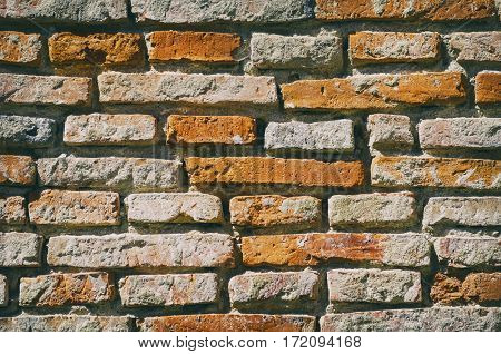 Photo of the Vintage Orange Brick Background