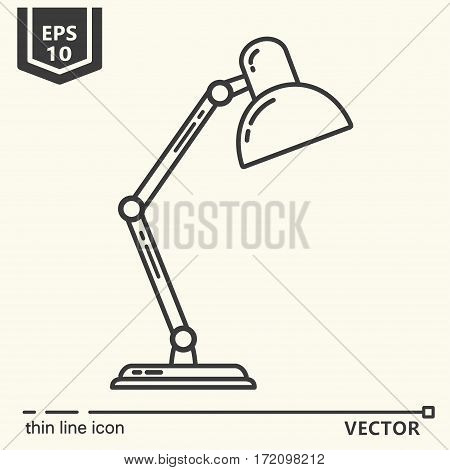 Reading lamps. One icon - office supplies, series. EPS 10 Isolated objects