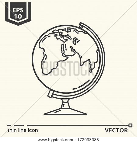 Globe. One icon - office supplies series. EPS 10 Isolated objects