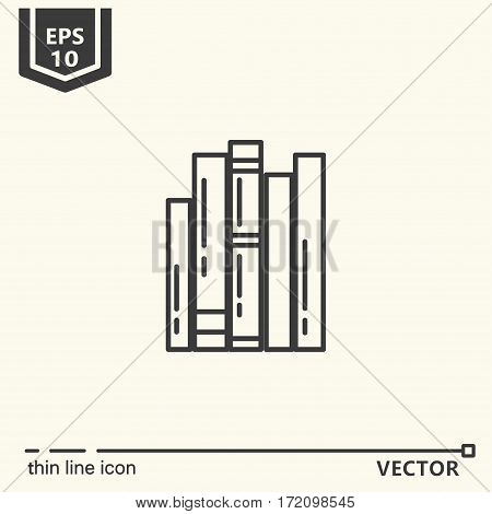 Books. One icon - office supplies series. EPS 10 Isolated objects