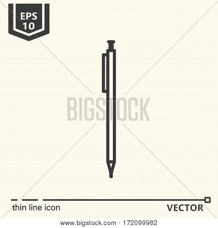 Automatic pencil. One icon - office supplies series. EPS 10 Isolated objects