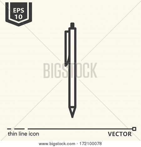 Pen. One icon - office supplies series. EPS 10 Isolated objects