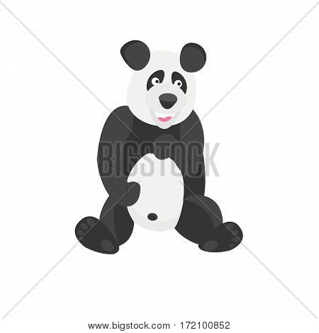 Panda Chinese Bear. Good animal. Jolly animal and bamboo